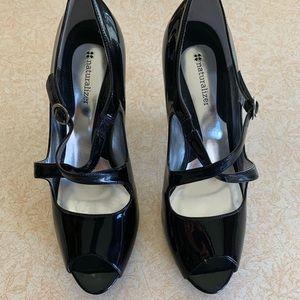 Black patent finish size 9 ladies shoes